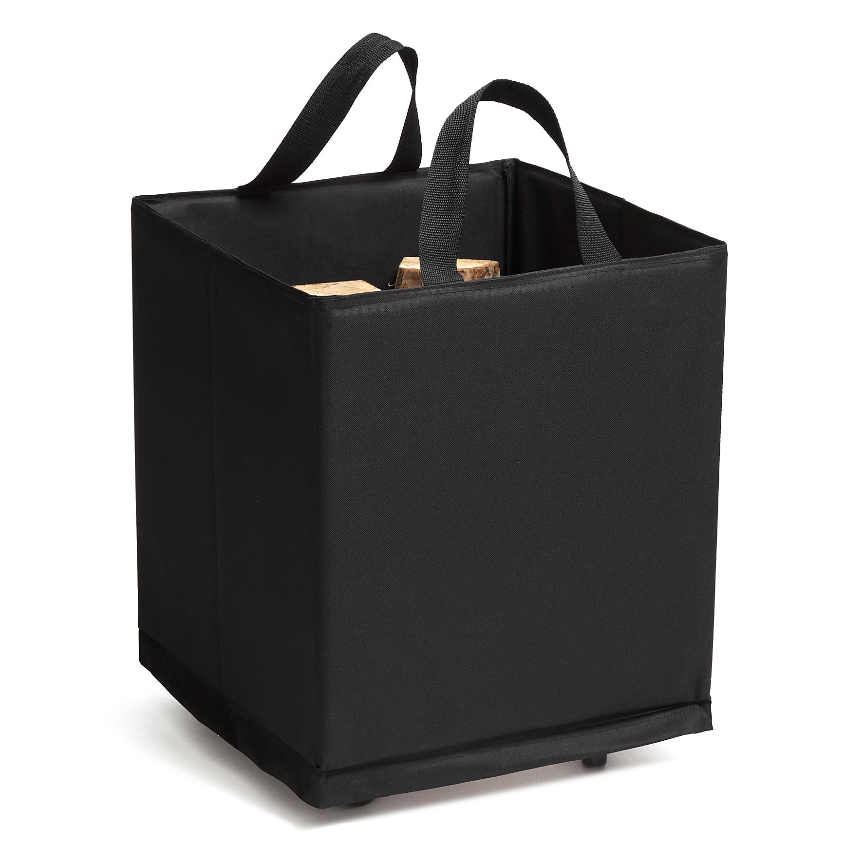 panier b ches poly noir sur roulettes 45x45x52 quincadeco poign es de portes fen tres et. Black Bedroom Furniture Sets. Home Design Ideas