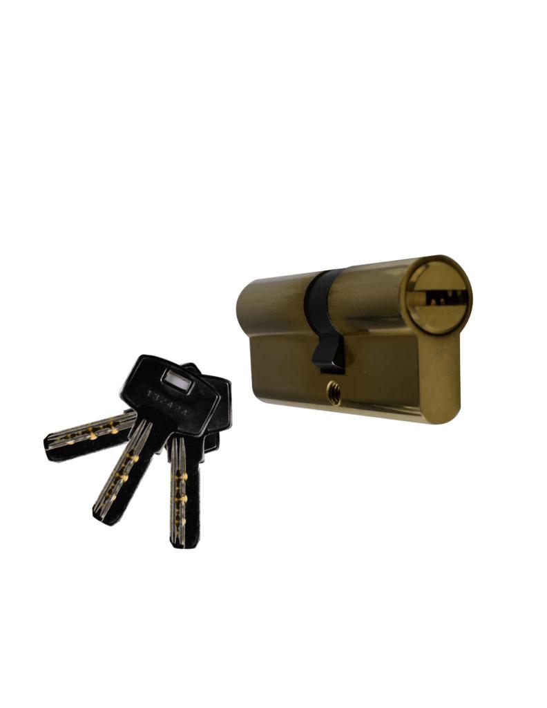 Cylindre sécurité 60mm/30X30 L P V - Quincadeco poignées de portes, fenêtres et accessoires